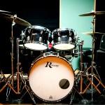 A studio drum set